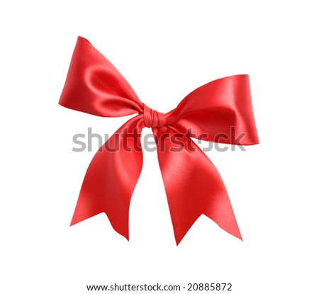 isolated red bow