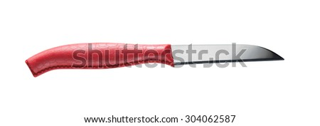 isolated red knife  - white background
