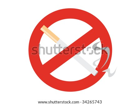 "Isolated restrictive sign ""no smoking"""
