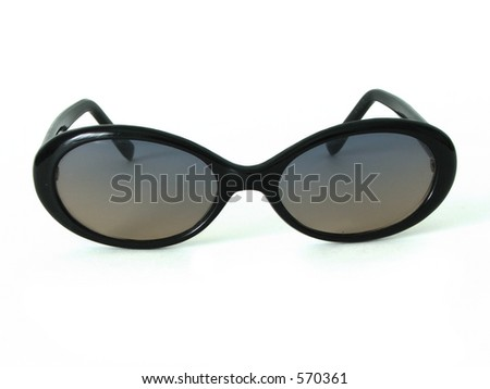 Isolated retro shades. - stock photo