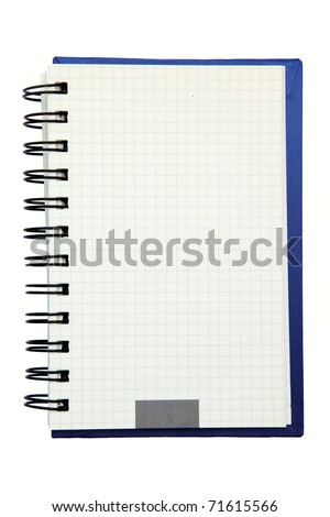 isolated ring binding graph book - stock photo