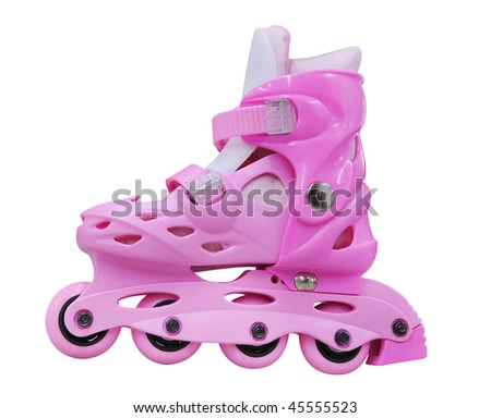 Isolated roller-skates against the white background - stock photo