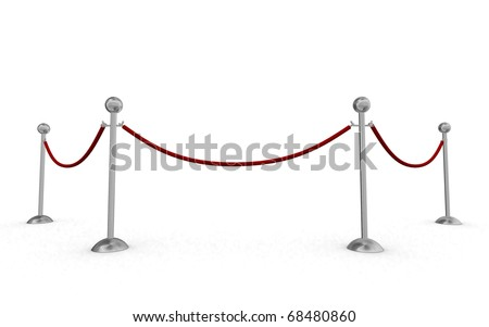 Isolated rope barriers