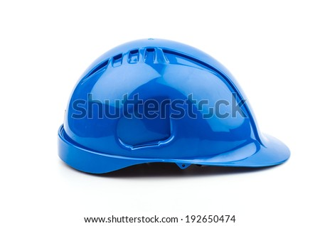 Isolated safety helmet hat