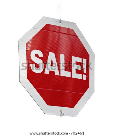 Isolated Sale Sign - stock photo