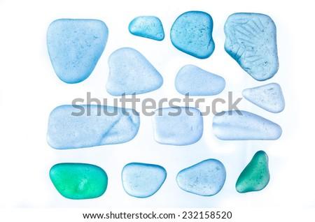 Isolated sea glass. beach glass. - stock photo