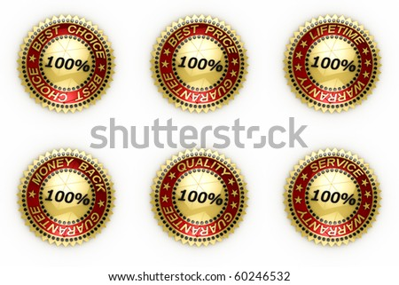 Isolated seals with clipping path over white background - stock photo