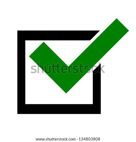 Isolated selection box icon - stock photo