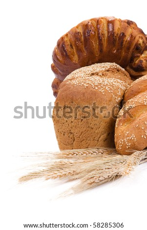 isolated set of bakery products