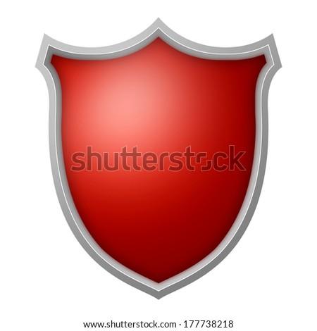 Isolated Shield  - stock photo