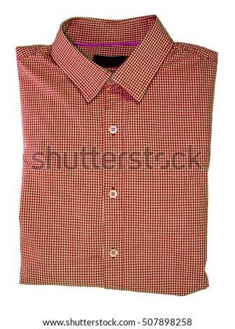 Isolated shirt red color