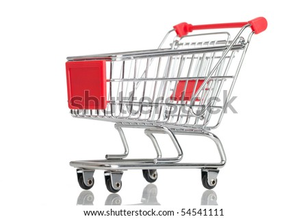 Isolated shopping cart