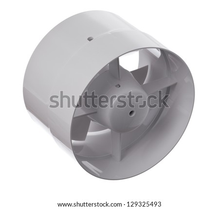Isolated shot of a plastic fan