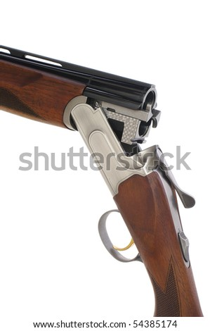 Isolated shot of shotgun - stock photo