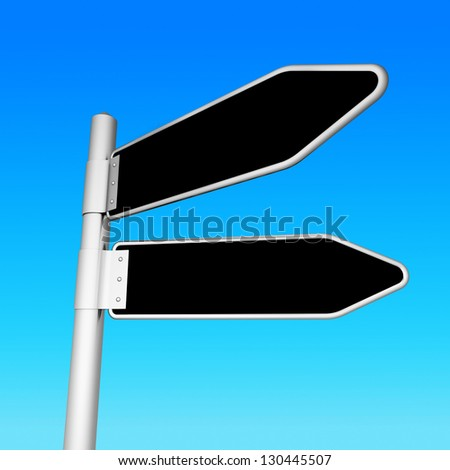 Isolated signpost on a sky background