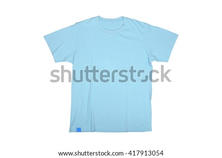 Isolated sky blue tshirt