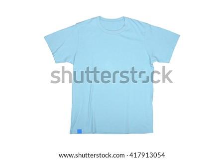 Isolated sky blue tshirt - stock photo