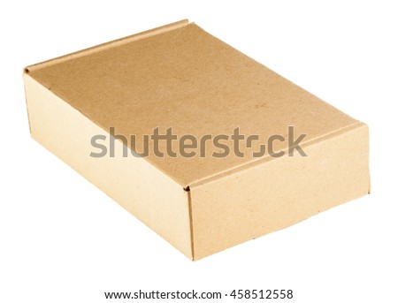 Isolated small cardboard box