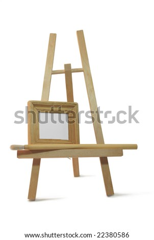isolated small wooden frame on easel stock photo 22380586 shutterstock