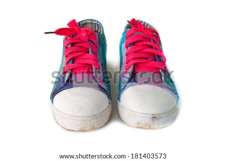 Isolated sneaker shoes