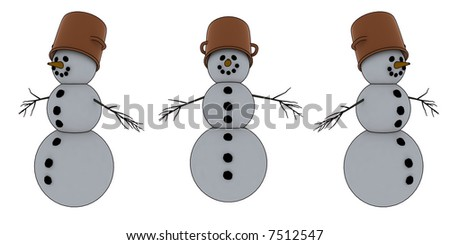 isolated snowman for winter/christmas design