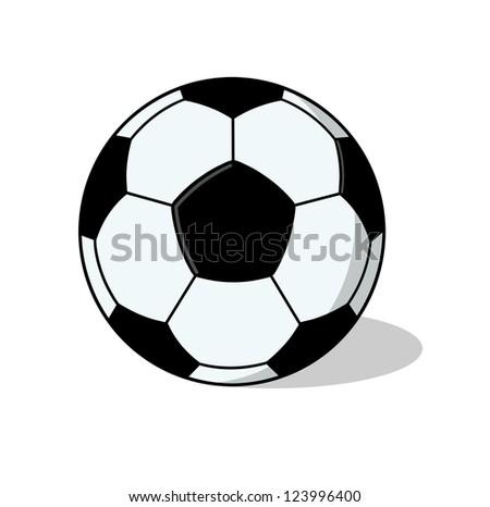 Isolated Soccer Ball Illustration; Football Ball Drawing - stock photo