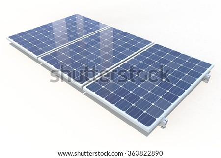 Isolated solar panel. 3D render