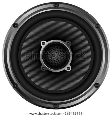 isolated speaker - stock photo