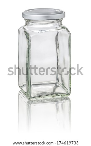 isolated square jar