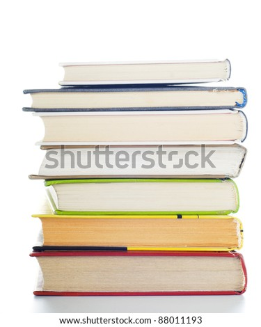 isolated Stack of books