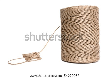 Isolated string hank - stock photo