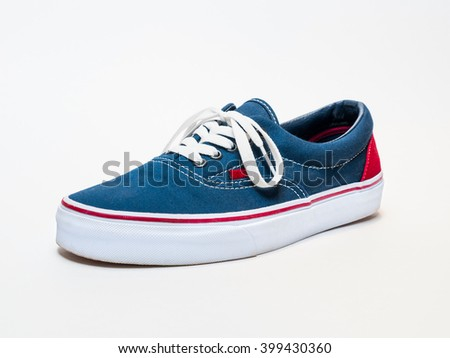 Isolated summer boat sneaker - white background
