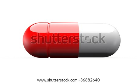 isolated tablet on white background - stock photo