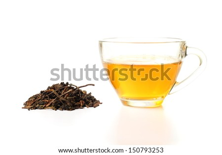 Isolated tea cup on white backgruound