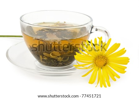 isolated tea on a white background