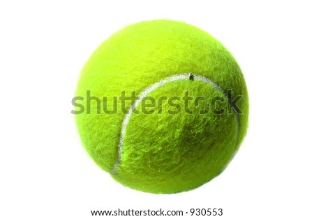 Isolated Tennis Ball - stock photo