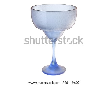 isolated textured glass render in blue tones