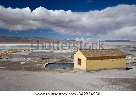 Isolated Thermal station in Sur Lipez, South Bolivia.