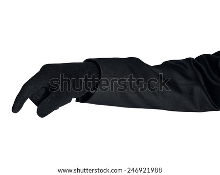 Isolated thief hand on white - stock photo