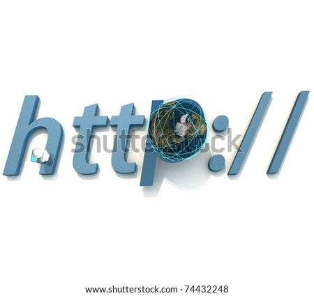 isolated three-dimensional programmer sitting on the letter - stock photo