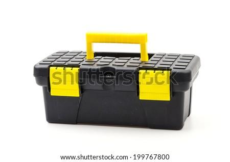 Isolated tools box - stock photo