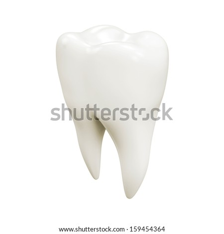 Isolated tooth - stock photo