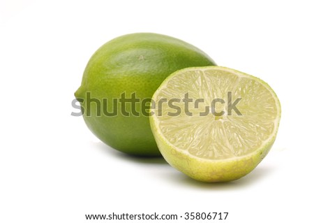 Isolated tropical green lemon
