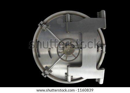 Isolated vault - stock photo