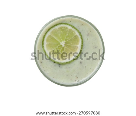 Isolated view of a smoothie - stock photo