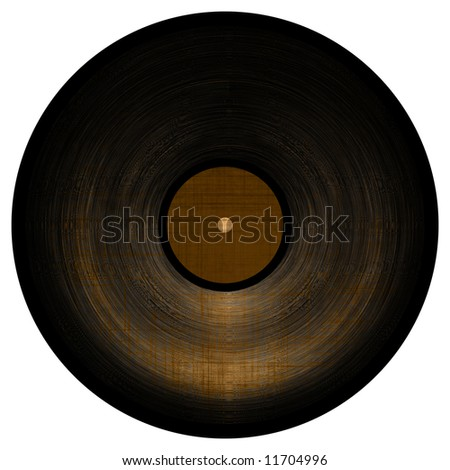 Isolated vinyl record on white background