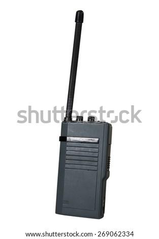 Isolated walkie talkie - stock photo