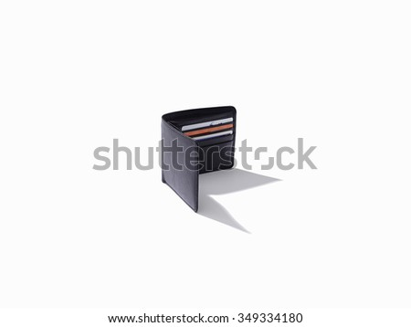 Isolated wallet on white background  - stock photo