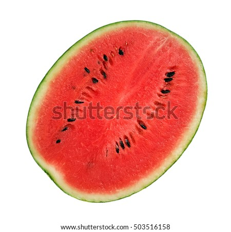 Isolated Watermelon in white background