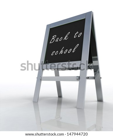 isolated welcoming school metallic rack perspective view illustration